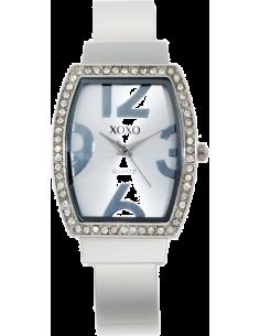 Chic Time | Montre Femme XOXO XO1095 Argent Boîtier rectangle Grands index  | Prix : 20,00€