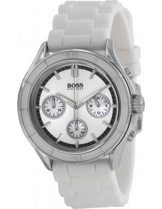 Chic Time | Montre Hugo Boss Iconic 1502223 Bracelet Gomme Blanc  | Prix : 149,50 €