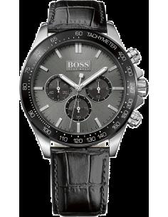 Chic Time   Montre Homme Hugo Boss 1513177 Chronographe Bracelet En Cuir Noir type croco    Prix : 279,65€