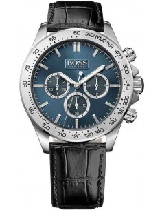 Chic Time | Montre Homme Hugo Boss 1513176 Cadran bleu reflets noirs  | Prix : 250,75€