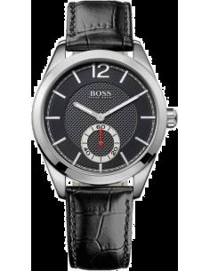 Chic Time | Montre Homme Hugo Boss 1512793 Bracelet Cuir Noir   | Prix : 220,15€