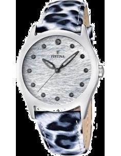 dc61501c627ec0 Chic Time   Montre Femme Festina Lady F16648 1 Bracelet cuir léopard bleu  et blanc