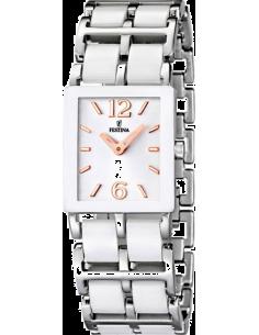 Chic Time   Montre Femme Festina Ceramic F16625 2 Bracelet céramique  blanche et acier argenté dd70595d7ce9