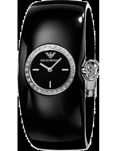 Chic Time | Montre Femme Emporio Armani AR0739 bracelet rigide noir  | Prix : 189,00€