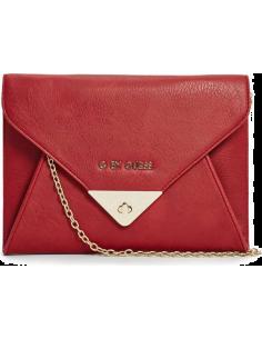 Chic Time | Pochette Guess rouge avec chaîne dorée  | Prix : 44,50€