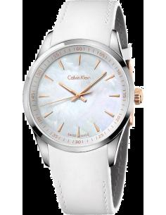 Chic Time | Montre modèle femme - Calvin Klein - Montre Femme Calvin Klein K5A31BLG Blanc  - Prix : 227,99 €