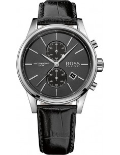 Chic Time | Montre Homme Hugo Boss Jet 1513279 Bracelet cuir noir  | Prix : 233,40€