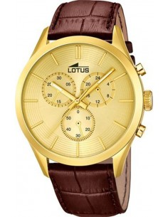 Chic Time | Montre Homme Lotus Minimalist 18120/1 Marron  | Prix : 119,00 €