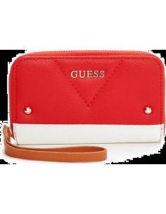 Chic Time | Pochette Guess reagan zip coloris rouge  | Prix : 29,50€
