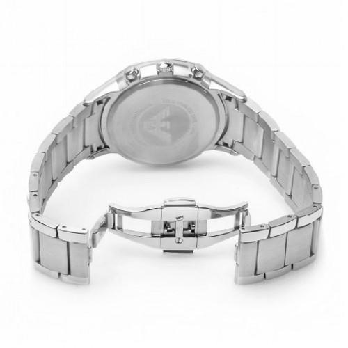 Bracelet en acier poli de la montre Emporio Armani AR2434