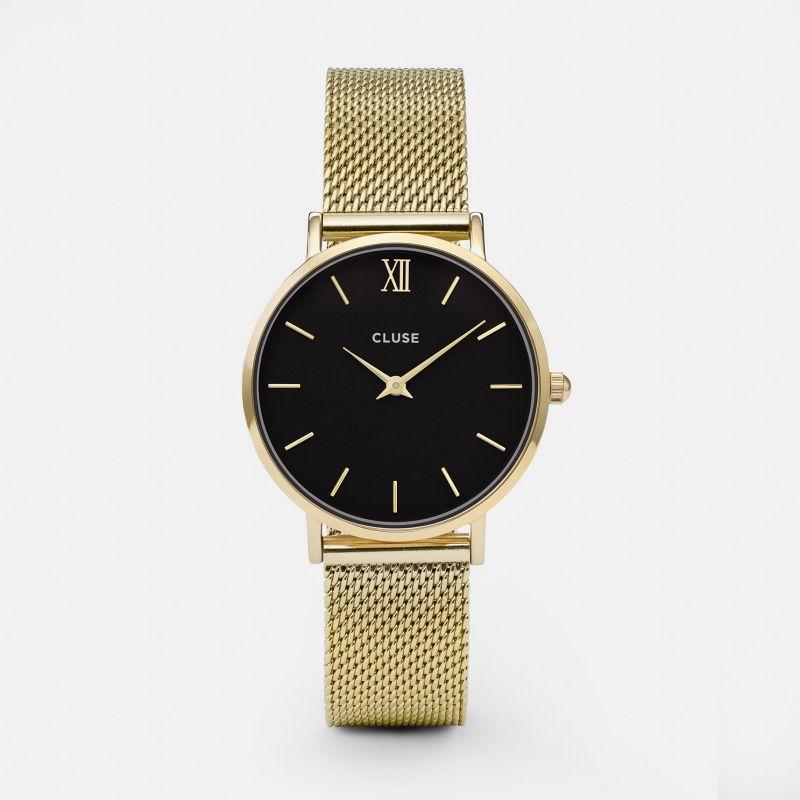 Montre Cluse Minuit Mesh Black/Gold