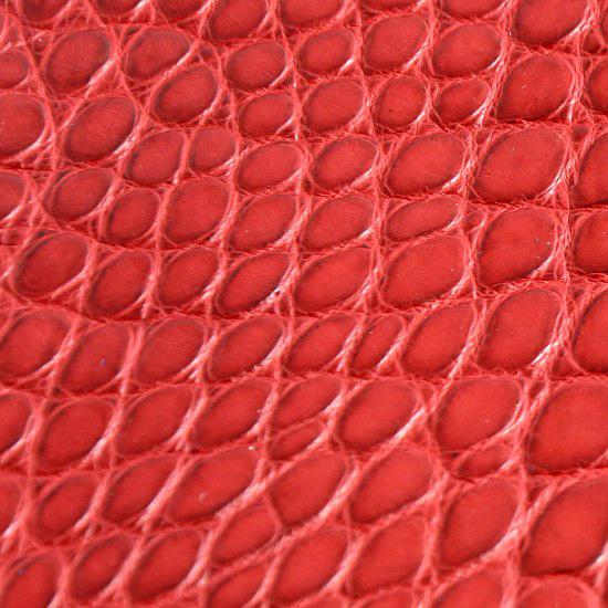 cuir-alligator-petites-ecailles-rouge